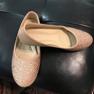 Other - Tan sparkle flats